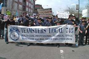 May Day 2008 in Chicago Included Workers, Immigrants, and Veterans. Photo: Labor Beat.