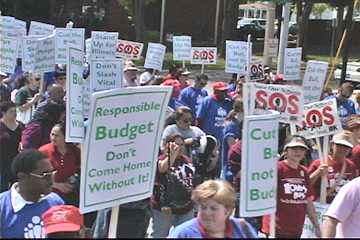 Huge protest march against public sector cuts in Springfield