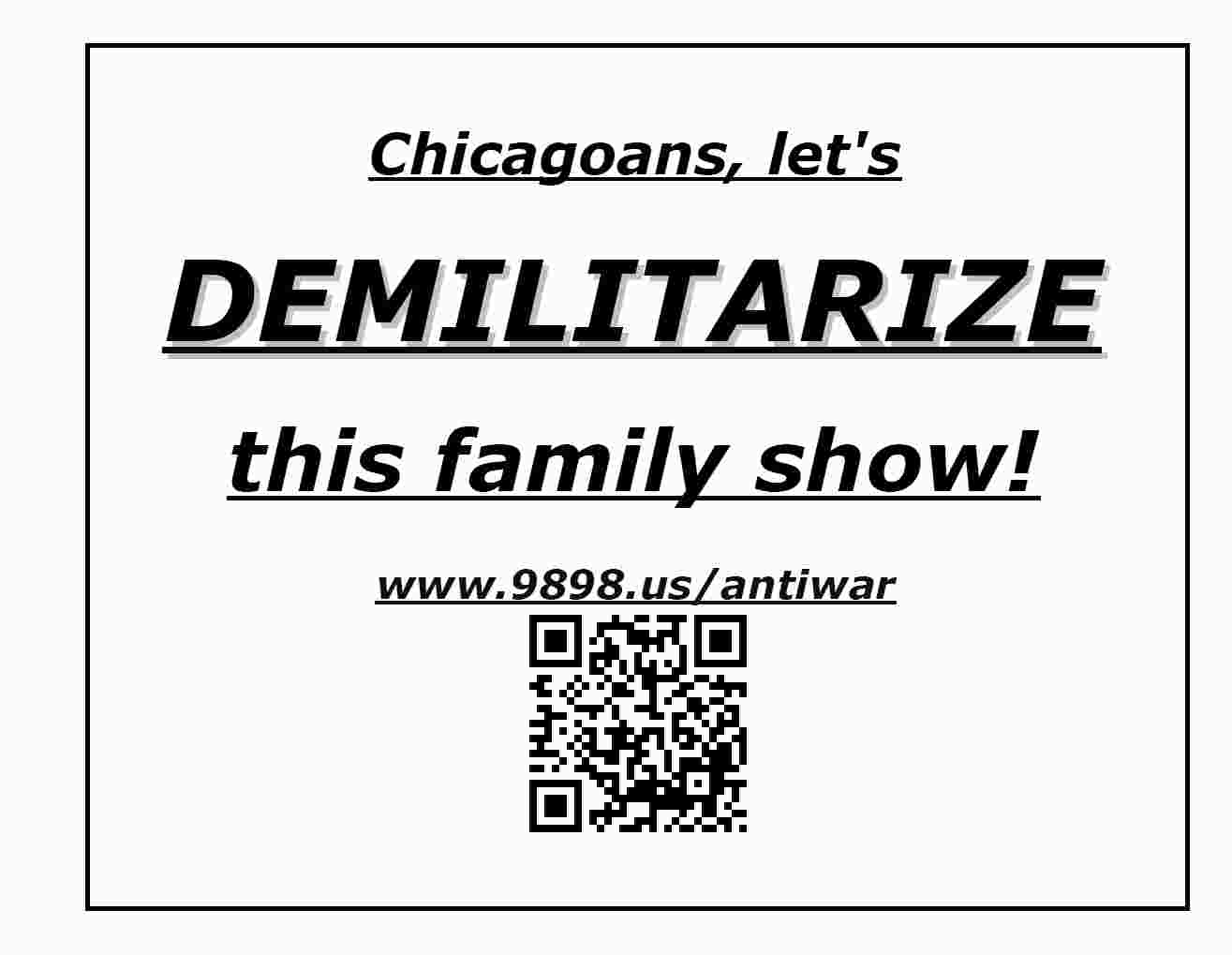 Demilitarize this show!