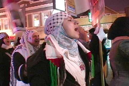 Chicago protest against siege of Gaza. Photo: Labor Beat.