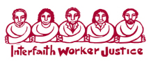 'Interfaith Worker Justice' as a logo