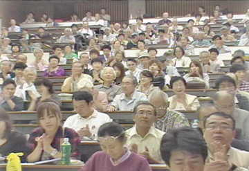 Japanese peace activists listen to IVAW testimonials. Photo: Iraq Peace TV in Japan.