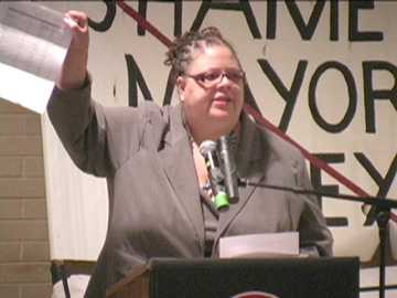 Karen Lewis, candidate for President of Chicago Teachers Union. Photo: Labor Beat.