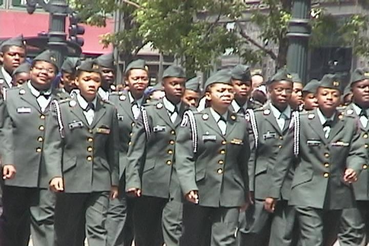 Chicago now operates certain public high schools specifically for military recruiting and officer training. (Photo: Steve Dalber)