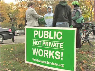 Public not private works. Photo Labor Beat.